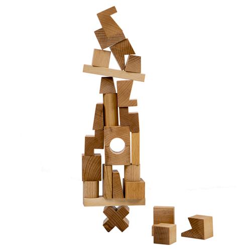 wooden story ナチュラルスタッキングタワー/ポーランドのおしゃれな木のおもちゃ