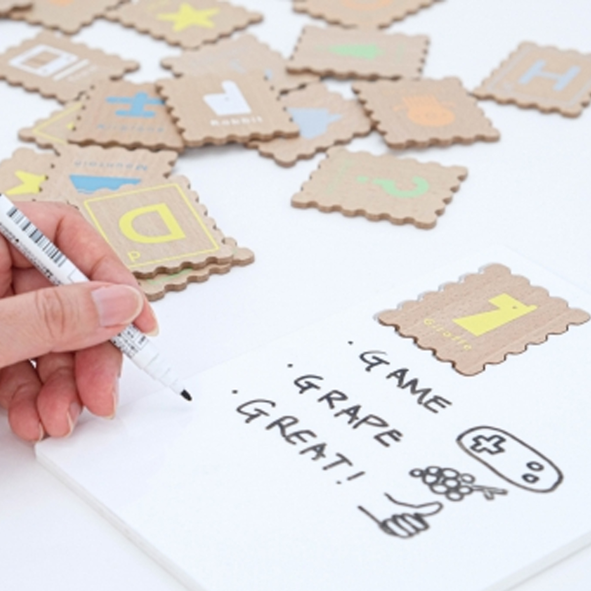 ABC stamp/知育玩具/dou/おしゃれな木のおもちゃ
