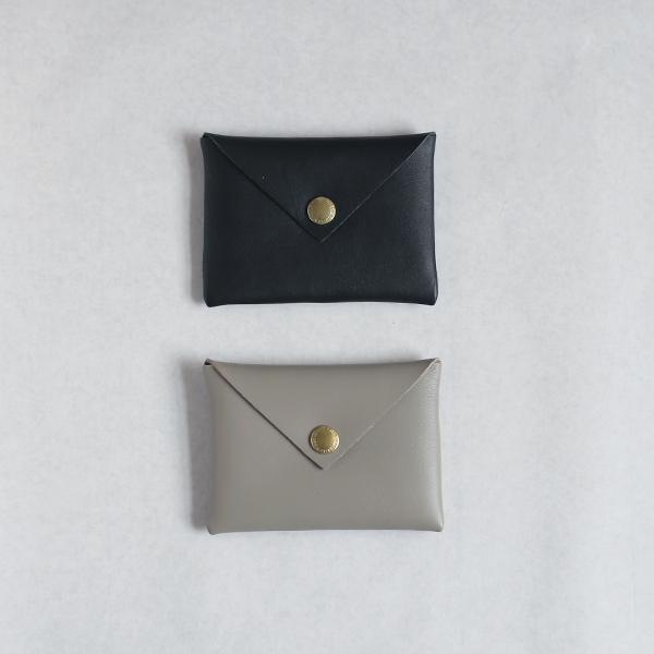CINQ カードケース/ブラック/グレー/アイボリー
