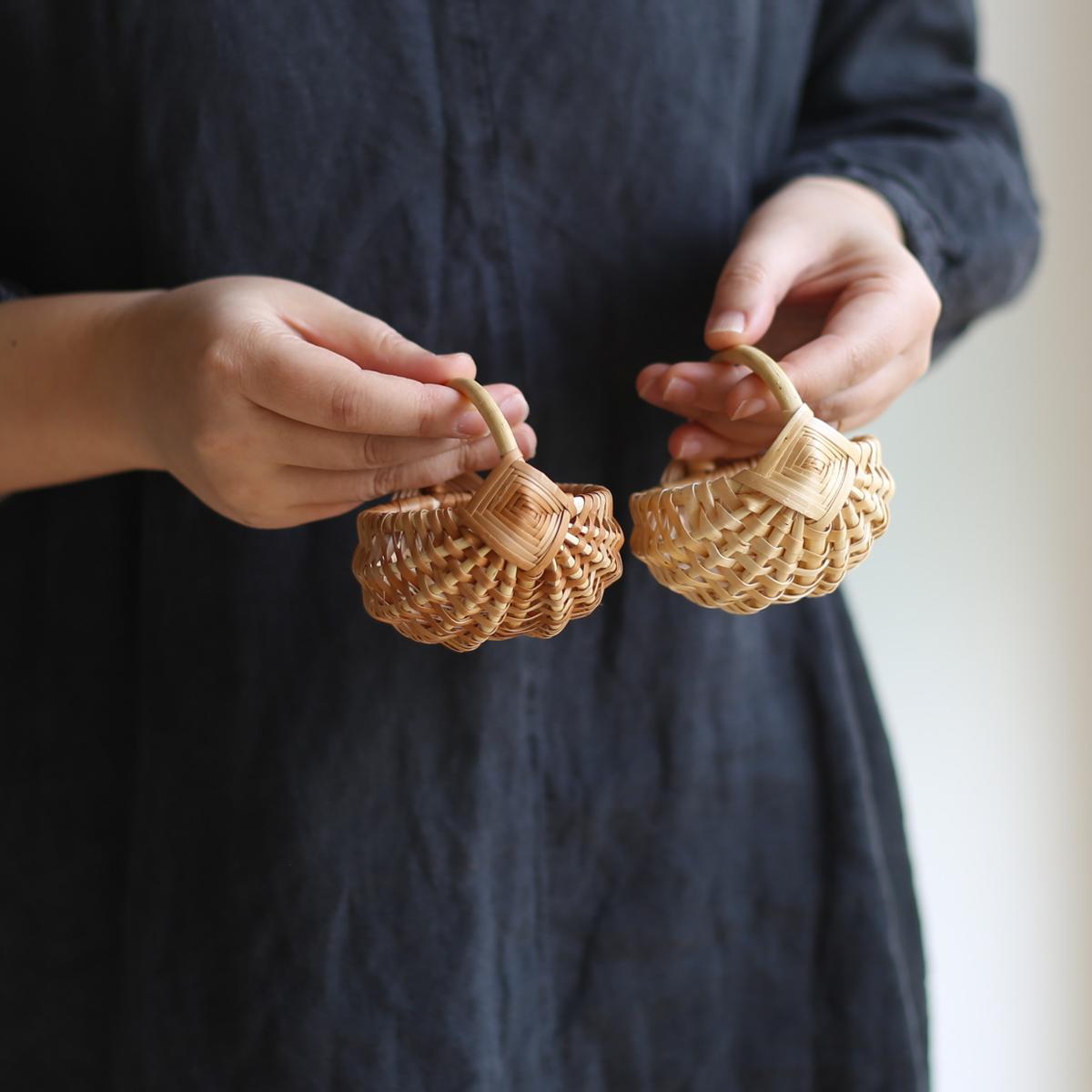 伝統模様のミニかご