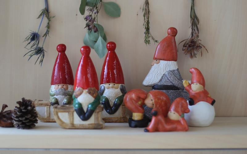 Lisa Larson(リサラーソン) オブジェ SNOWBALL TOMTE スノーボールトムテ クリスマス サンタ/置物