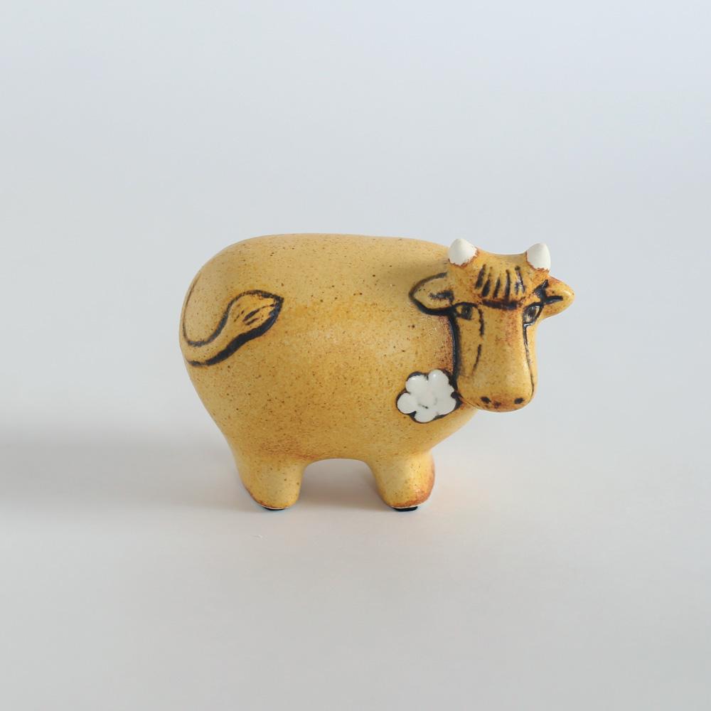 リサラーソン 置物 動物 牛 干支 丑 スウェーデンのお花のうし