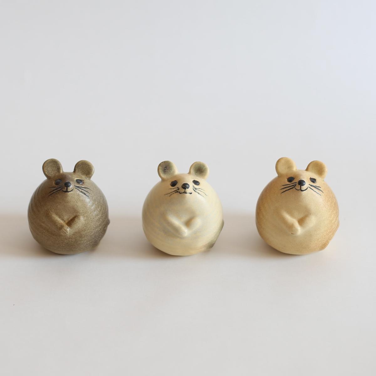 リサラーソン/ねずみ/グレー/ホワイト/ブラウン