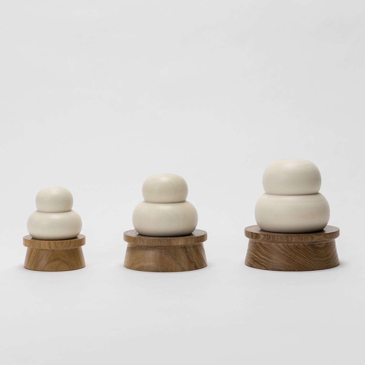 桜井こけし店 木製鏡餅飾り