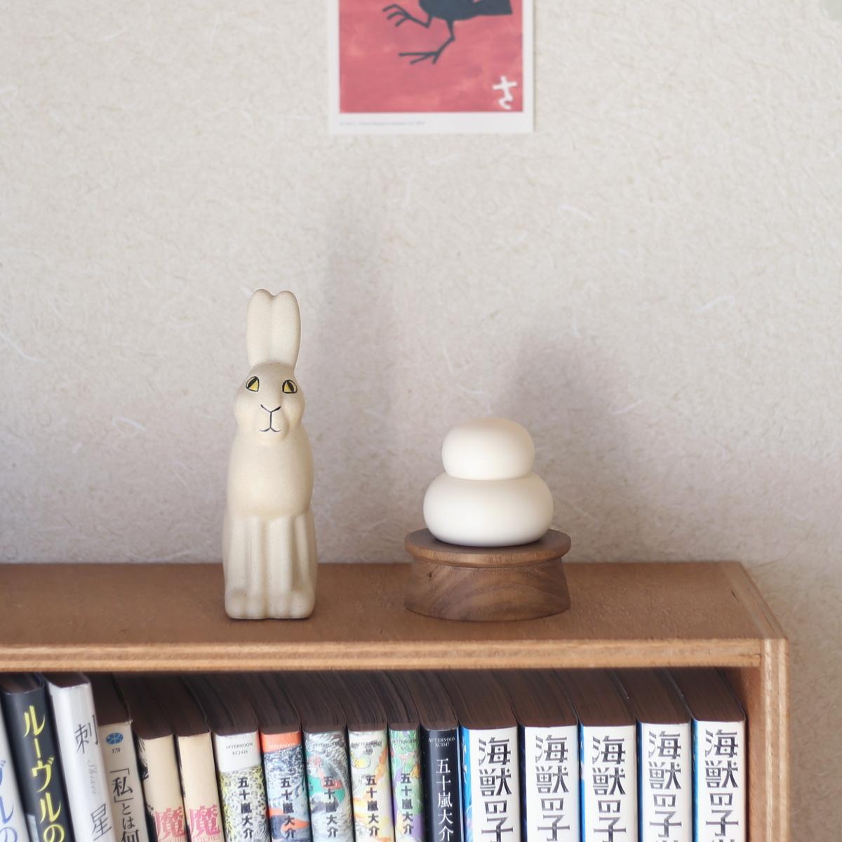 桜井こけし店 木製鏡餅飾り お正月飾り おしゃれ かわいい