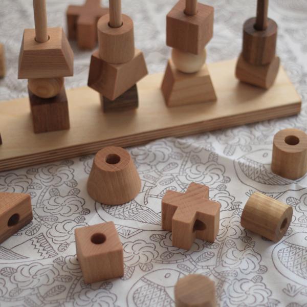 wooden story ナチュラルスタッキングトイ/ポーランドのおしゃれな木のおもちゃ