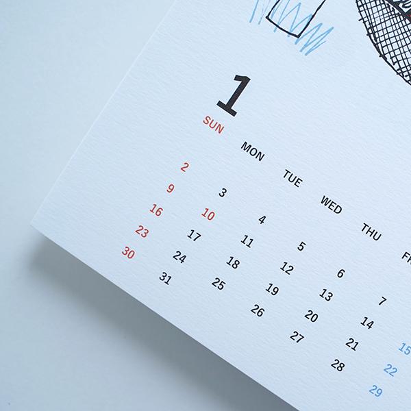 yamyam ヤムヤム 2022 A5カレンダー 12枚セット TIGER CALENDAR
